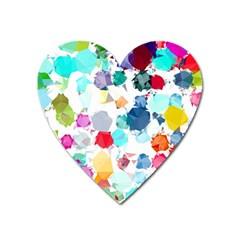 Colorful Diamonds Dream Heart Magnet by DanaeStudio