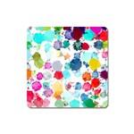 Colorful Diamonds Dream Square Magnet