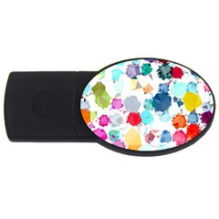 Colorful Diamonds Dream Usb Flash Drive Oval (2 Gb)  by DanaeStudio