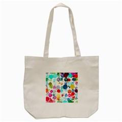 Colorful Diamonds Dream Tote Bag (cream) by DanaeStudio