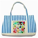 Colorful Diamonds Dream Striped Blue Tote Bag