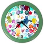 Colorful Diamonds Dream Color Wall Clocks