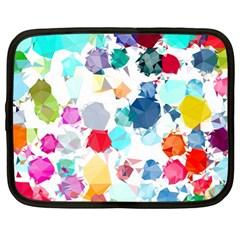 Colorful Diamonds Dream Netbook Case (large) by DanaeStudio