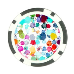 Colorful Diamonds Dream Poker Chip Card Guards (10 Pack)  by DanaeStudio
