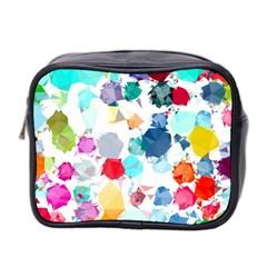 Colorful Diamonds Dream Mini Toiletries Bag 2 Side by DanaeStudio
