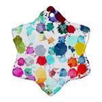 Colorful Diamonds Dream Snowflake Ornament (2-Side)