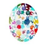 Colorful Diamonds Dream Oval Filigree Ornament (2-Side)