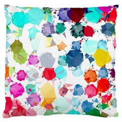 Colorful Diamonds Dream Large Cushion Case (two Sides) by DanaeStudio