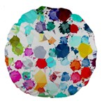 Colorful Diamonds Dream Large 18  Premium Round Cushions