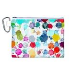 Colorful Diamonds Dream Canvas Cosmetic Bag (L)