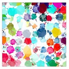 Colorful Diamonds Dream Large Satin Scarf (square) by DanaeStudio
