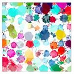 Colorful Diamonds Dream Large Satin Scarf (Square)