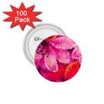 Geometric Magenta Garden 1.75  Buttons (100 pack)