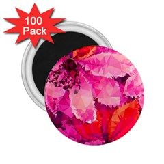 Geometric Magenta Garden 2 25  Magnets (100 Pack)  by DanaeStudio
