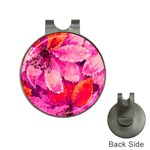 Geometric Magenta Garden Hat Clips with Golf Markers
