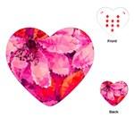 Geometric Magenta Garden Playing Cards (Heart)