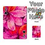 Geometric Magenta Garden Playing Cards 54 Designs