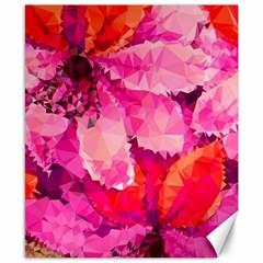 Geometric Magenta Garden Canvas 8  X 10  by DanaeStudio