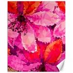 Geometric Magenta Garden Canvas 16  x 20