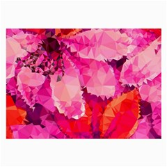 Geometric Magenta Garden Large Glasses Cloth by DanaeStudio