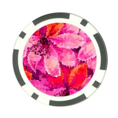 Geometric Magenta Garden Poker Chip Card Guards by DanaeStudio