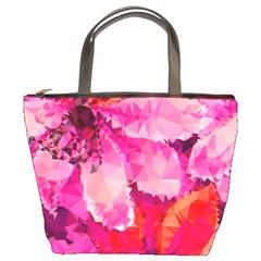 Geometric Magenta Garden Bucket Bags by DanaeStudio