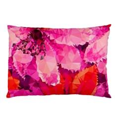 Geometric Magenta Garden Pillow Case by DanaeStudio