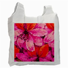 Geometric Magenta Garden Recycle Bag (two Side)  by DanaeStudio