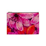 Geometric Magenta Garden Cosmetic Bag (Medium)