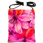 Geometric Magenta Garden Shoulder Sling Bags