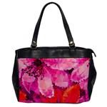 Geometric Magenta Garden Office Handbags