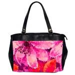 Geometric Magenta Garden Office Handbags (2 Sides)