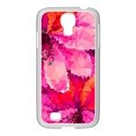 Geometric Magenta Garden Samsung GALAXY S4 I9500/ I9505 Case (White)