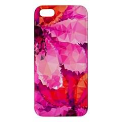 Geometric Magenta Garden Iphone 5s/ Se Premium Hardshell Case by DanaeStudio