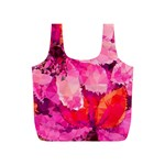 Geometric Magenta Garden Full Print Recycle Bags (S)