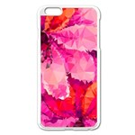 Geometric Magenta Garden Apple iPhone 6 Plus/6S Plus Enamel White Case