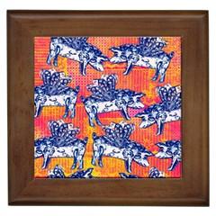 Little Flying Pigs Framed Tiles by DanaeStudio