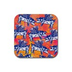 Little Flying Pigs Rubber Square Coaster (4 pack)