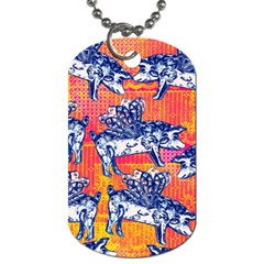 Little Flying Pigs Dog Tag (two Sides) by DanaeStudio