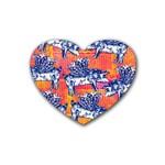 Little Flying Pigs Heart Coaster (4 pack)