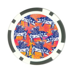 Little Flying Pigs Poker Chip Card Guards by DanaeStudio
