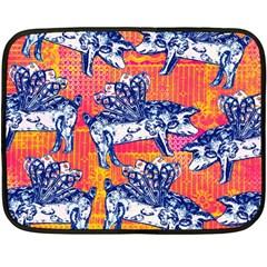 Little Flying Pigs Double Sided Fleece Blanket (mini)  by DanaeStudio