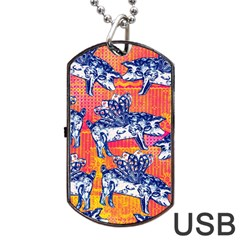 Little Flying Pigs Dog Tag Usb Flash (two Sides)  by DanaeStudio