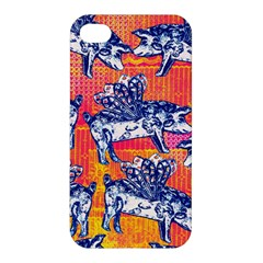 Little Flying Pigs Apple Iphone 4/4s Hardshell Case by DanaeStudio