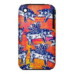 Little Flying Pigs Apple Iphone 3g/3gs Hardshell Case (pc+silicone) by DanaeStudio