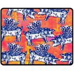 Little Flying Pigs Double Sided Fleece Blanket (Medium)