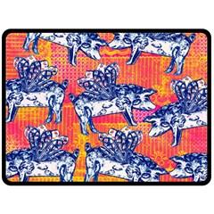 Little Flying Pigs Double Sided Fleece Blanket (large)  by DanaeStudio