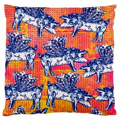 Little Flying Pigs Large Flano Cushion Case (two Sides) by DanaeStudio