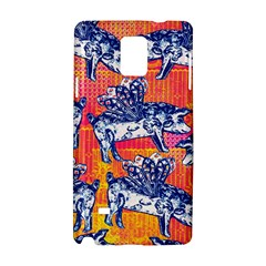 Little Flying Pigs Samsung Galaxy Note 4 Hardshell Case by DanaeStudio