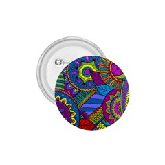 Pop Art Paisley Flowers Ornaments Multicolored 1 75  Buttons by EDDArt